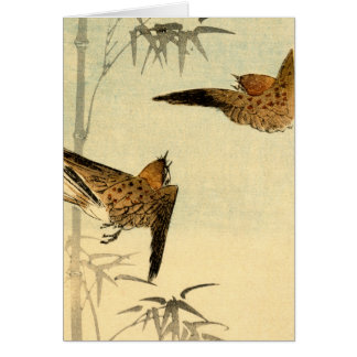 Japanese Sparrows no.1 Card