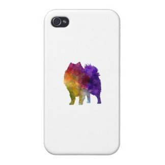 Japanese Spitz in watercolor iPhone 4/4S Case