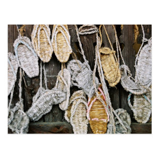 Japanese Straw Sandals Postcard