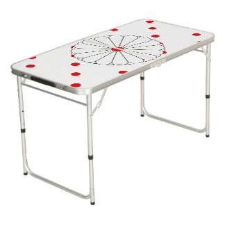 Japanese stripes flag beer pong table
