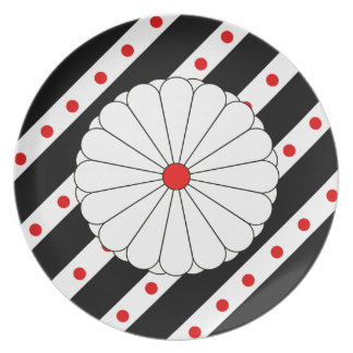 Japanese stripes flag plate