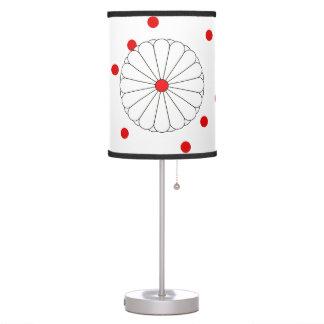 Japanese stripes flag table lamp
