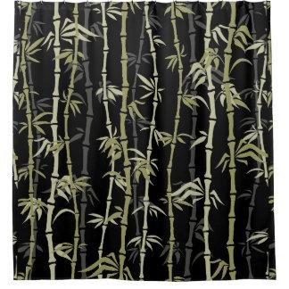 Japanese Style Bamboo Design Shower Curtain