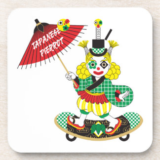 Japanese-style clown colorful (JAPANESE STYLE Drink Coaster