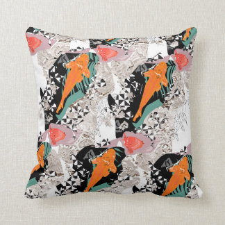 Japanese Style Fish Throw Pillow