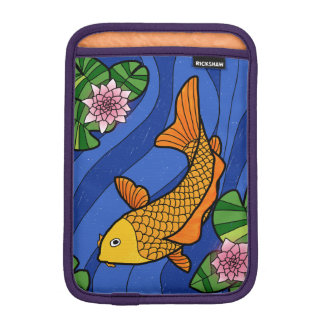Japanese Style Koi In Water With Lillies iPad Mini Sleeves