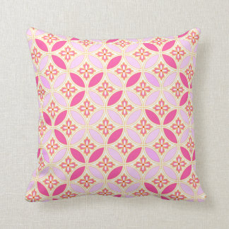Japanese-style Shippo Pink cushion pillow ver.2