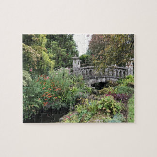 Japanese Style Stone Bridge in an English Garden Jigsaw Puzzle