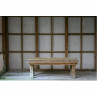 Japanese style tea house bench photo cut out