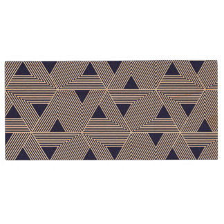 Japanese style triangle Navy pattern Wood USB 2.0 Flash Drive