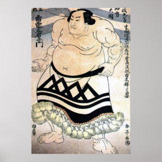 Japanese sumo-wrestler poster
