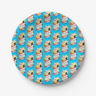 Japanese sushi night for the cute French Bulldog 7 Inch Paper Plate