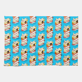 Japanese sushi night for the cute French Bulldog Kitchen Towel