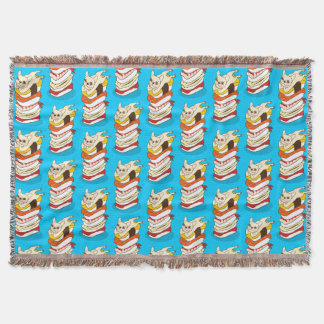 Japanese sushi night for the cute French Bulldog Throw Blanket