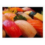 Japanese sushi roll sashimi hipster Japan photo Post Cards