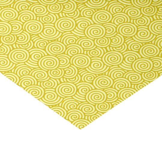 Japanese swirl pattern - mustard and light yellow tissue paper