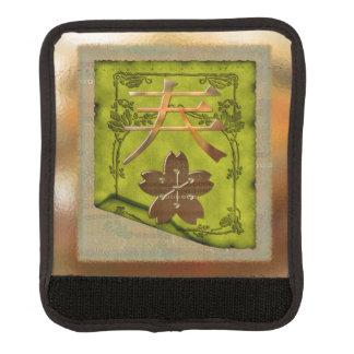 Japanese Symbolism Optical Mixed Media Luggage Handle Wrap
