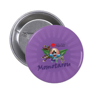 Japanese tales and Myths - Momotarou 2 Inch Round Button
