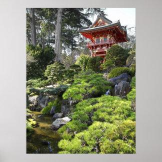 Japanese Tea Garden Pagoda - San Francisco Poster
