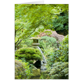 """Japanese Tea Garden Scene"" Card"