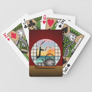 Japanese Tea Room Custom Bicycle® Playing Cards