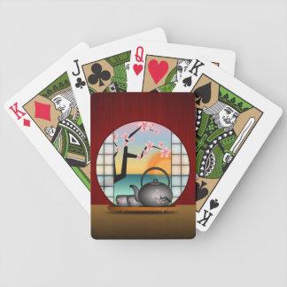 Japanese Tea Room Custom Bicycle® Playing Cards