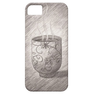 Japanese Teacup Pencil Sketch Phone Case