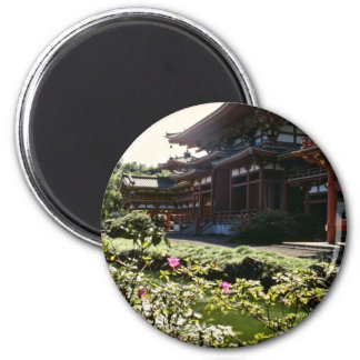 Japanese Temple, Byodo-in - Oahu flowers Magnet