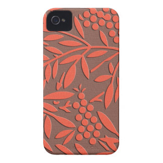 Japanese textile Leaves and berries iPhone 4 Cover