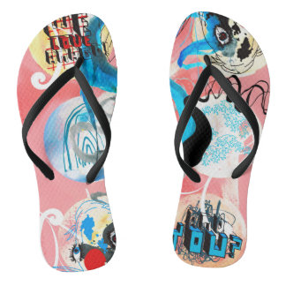 Japanese Things Flip Flops