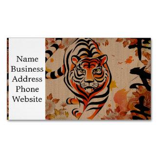japanese tiger art business card magnet