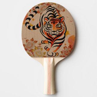 japanese tiger art Ping-Pong paddle