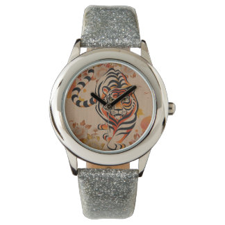 japanese tiger art wrist watches