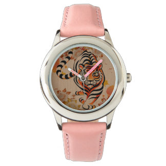 japanese tiger art wristwatch