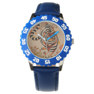 japanese tiger art wristwatches