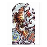 Japanese Tiger Tattoo Postcard