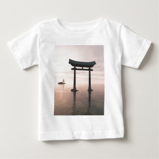 Japanese Torii Gate at a Shinto Shrine, Evening Baby T-Shirt