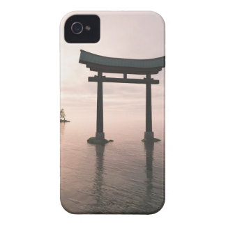 Japanese Torii Gate at a Shinto Shrine, Evening iPhone 4 Case-Mate Cases