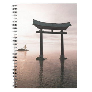 Japanese Torii Gate at a Shinto Shrine, Evening Notebook