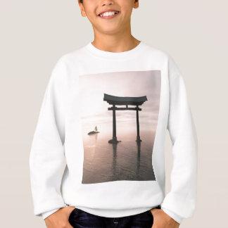 Japanese Torii Gate at a Shinto Shrine, Evening Sweatshirt