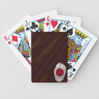 Japanese touch fingerprint flag bicycle playing cards