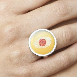 Japanese touch fingerprint flag photo rings