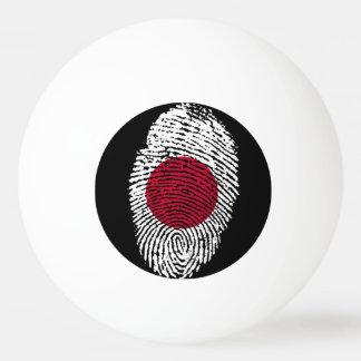 Japanese touch fingerprint flag ping pong ball