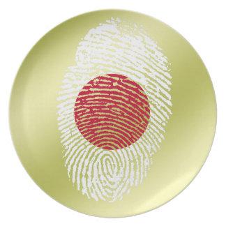 Japanese touch fingerprint flag plates