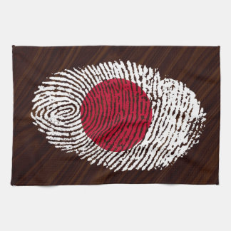 Japanese touch fingerprint flag towels