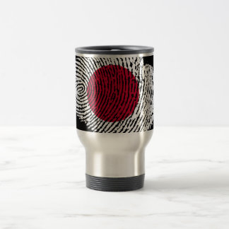 Japanese touch fingerprint flag travel mug