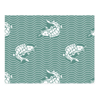 Japanese traditional pattern - Carp Postcard