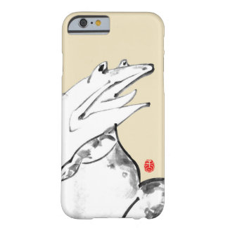 Japanese traditional styled frog with brush barely there iPhone 6 case