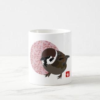 Japanese Tree Sparrow (harmony sparrow) Coffee Mug