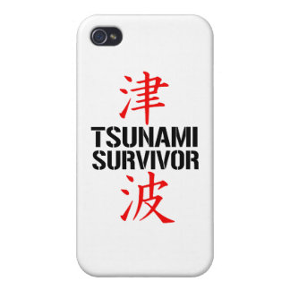 JAPANESE TSUNAMI SURVIVOR iPhone 4/4S CASES